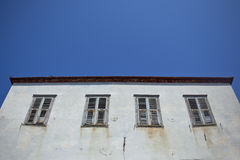 Old abandoned house. In the island of Hydra, Greece Royalty Free Stock Photos