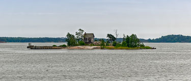 Old abandoned house on an island Royalty Free Stock Images