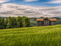 Old abandoned house. An old house in the middle of a field, no one lives here anymore Royalty Free Stock Photos