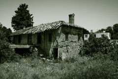 Old and abandoned house in mountain village Evrenleryavsi Stock Images