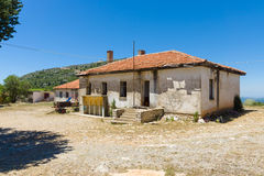 Old and abandoned house in mountain village Sirtkoy Royalty Free Stock Photography