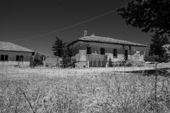 Old and abandoned house in mountain village Sirtkoy Stock Image