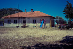 Old and abandoned house in mountain village Sirtkoy Stock Photo