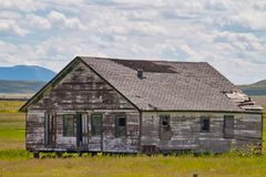 Abandoned House in New Mexico. Old abandoned house near Capulin, New Mexico. Open Range country near Texas stock images