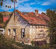 Old abandoned house. Close view Royalty Free Stock Photography