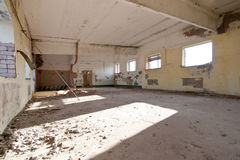 Old abandoned house. Room with dust Stock Images