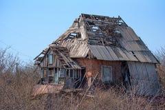 Old abandoned house. Rural old house abandoned many years ago Stock Photo