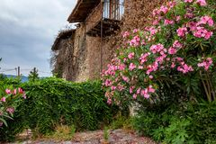 Old abandoned house. Rural old house abandoned many years ago Stock Images