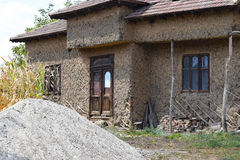 Old abandoned house. In a rural region of Romania royalty free stock photography