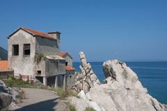 Old abandoned house on a sea Stock Photography