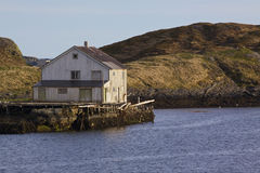 Old abandoned house by sea Stock Images