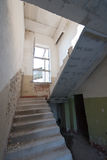 Old abandoned house. Stairway with dust Royalty Free Stock Photo