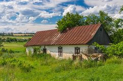 Old abandoned house in Ukraine Royalty Free Stock Image