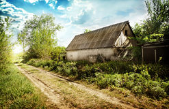 Old abandoned house in the village Stock Photos