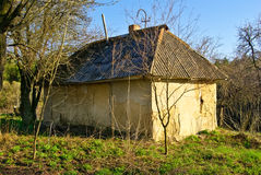 An old ,abandoned house with walls ceilings Royalty Free Stock Images