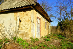 An old ,abandoned house with walls ceilings Royalty Free Stock Image