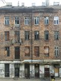 Old abandoned house in Warsaw royalty free stock photos