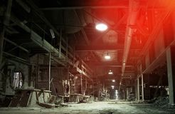 Old abandoned factory stock photography