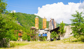 Old abandoned industrial factory Royalty Free Stock Photos