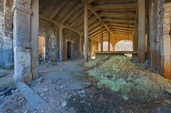Old abandoned industrial factory interior Royalty Free Stock Images