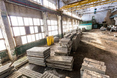 Old abandoned industrial warehouse Stock Photos