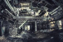 Old abandoned industrie. Rusty and beautiful old abandoned industrie with a lot of details to explore stock image
