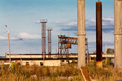 Old abandoned industry. People leave the places, where worked for Royalty Free Stock Image
