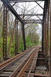 Old abandoned iron railroad bridge Royalty Free Stock Photo