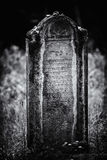 Old abandoned Jewish cemetery BW illustration Stock Images