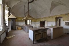 Old abandoned kitchen Stock Images