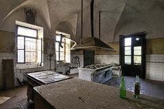 Old abandoned kitchen Stock Photography