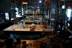 Old abandoned laboratory Stock Photos