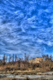 Old abandoned land HDR. Traditional building abandoned in Sierra de Baza, Granada Stock Photography