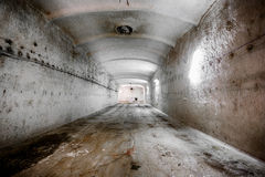 An old abandoned limestone mine corridors Stock Photography