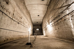 An old abandoned limestone mine corridors Stock Photos