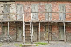 Old abandoned lumber rooms. Two floors of old abandoned lumber rooms Stock Photography