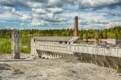 Old abandoned marble factory in Ruskeala, Russia. Old abandoned marble factory in Ruskeala, Karelia republic, Russia Royalty Free Stock Photography