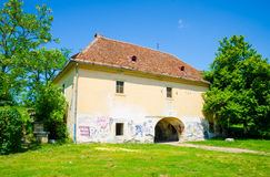 Old abandoned medieval building Stock Photography