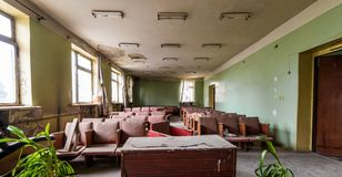 Old abandoned meeting room Stock Image