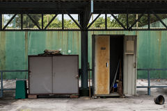 Old abandoned metal cabinet and locker Royalty Free Stock Images