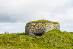 Old abandoned military pillbox Stock Photo