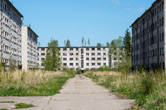 Old abandoned military town Stock Image