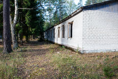 Old abandoned military town Stock Photo