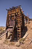 Old Abandoned Mine. View of an old abandoned mine at Berlin, Nevada, a ghost town outside of Reno royalty free stock photo
