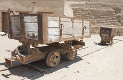 Old abandoned mine railway truck Stock Photography