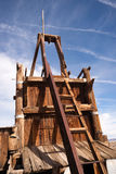 Old Abandoned Mine Shaft Western Desert Ghost Town Stock Photo