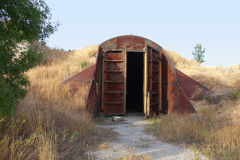 Old abandoned missile base building Stock Photos