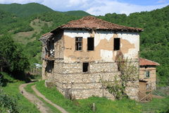 Old Abandoned Mountain House Stock Photo