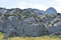 The Old,abandoned,mountain hut in the heart of the Durmitor mountan royalty free stock image