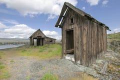 Old Abandoned Native American Fishing Shacks Stock Photos